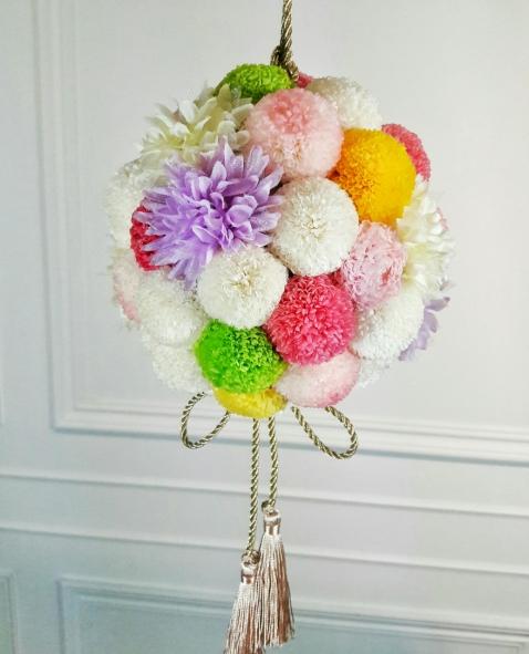 E圓球和風装飾棒花